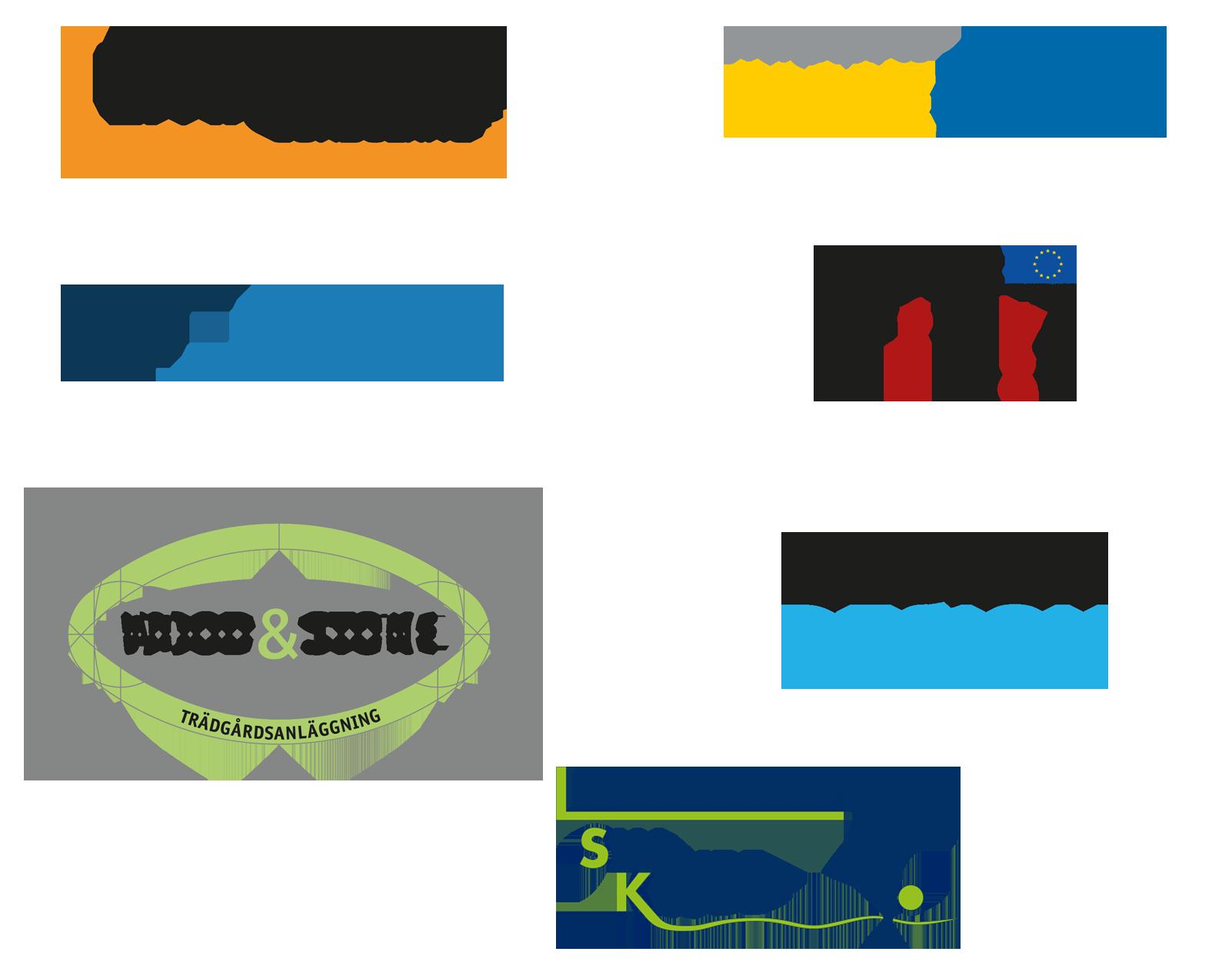 Logotyper och illustrationer